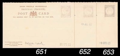essay  1884 1½d. reply paid in