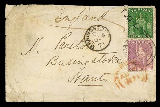 cover 1871 (8 Aug.) envelope t