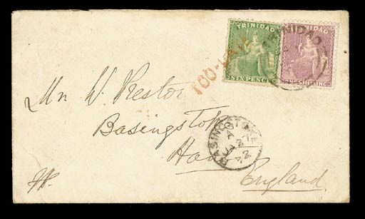 cover 1872 (9 Jan.) envelope t