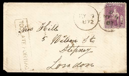 cover 1872 (9 May) envelope fr