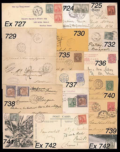 cover 1893 (28 Sept.) 1d. stat