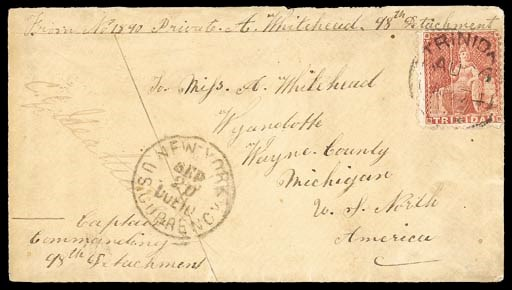 cover 1874 (26 Aug.) envelope