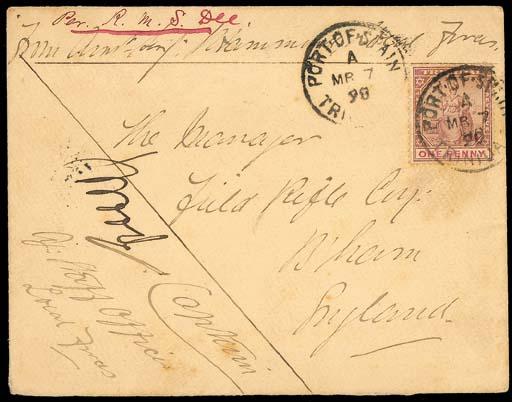 cover 1898 (7 Mar.) envelope t