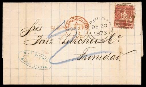 cover 1873 (27 Dec.) entire le