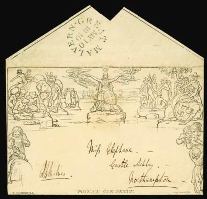 cover 1d. envelope, A142, addr