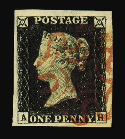 used  AH, good to enormous margins, very neatly cancelled; fine and very attractive. Photo