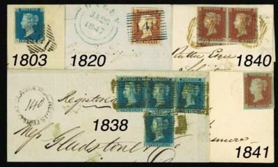cover VIOLET: 1841 1d., unplat