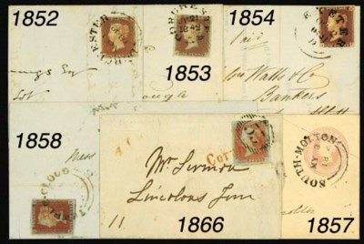 cover -- 1841 1d., unplated, M