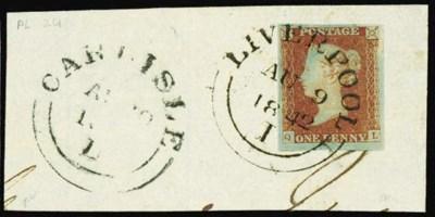 on piece  LIVERPOOL: 1841 1d.,