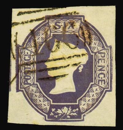 used  6d. purple, watermark in