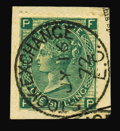 F 1/- green, plate 5, FP (impo