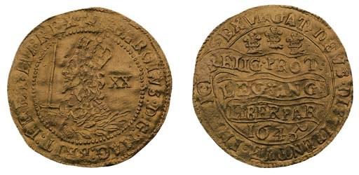 Charles I, Unite, 9.04g., 1645