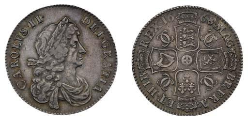 Charles II (1660-85), Halfcrow