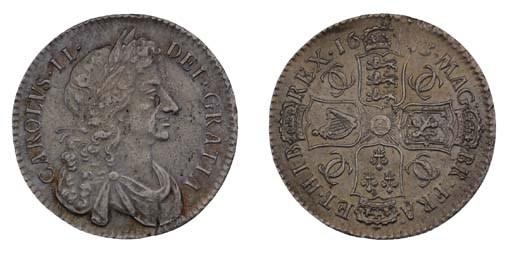 Charles II, Halfcrown, 1683, T