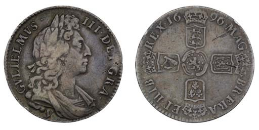 William III, Halfcrown, 1696,