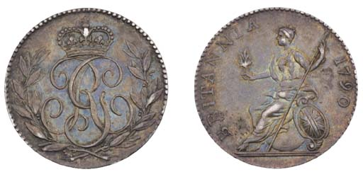 George III, pattern Sixpence,