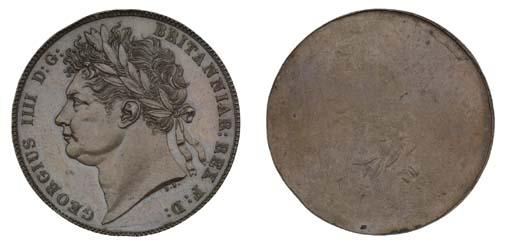George IV, uniface trial strik