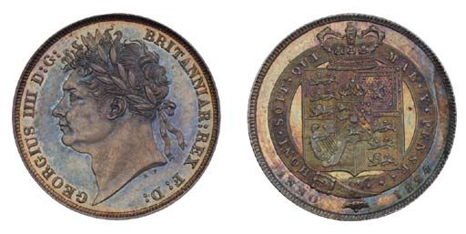 George IV, proof Shilling, 182