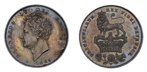 George IV, proof Shilling, 182