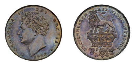 George IV, proof Sixpence, 182