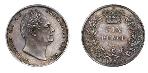 William IV, proof Sixpence, 18