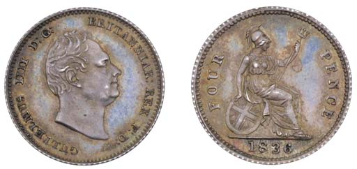 William IV, proof Groat, 1836,