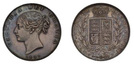 Victoria, proof Halfcrown, 183