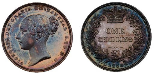 Victoria, proof Shilling, 1838