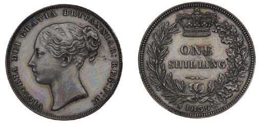 Victoria, proof Shilling, 1839