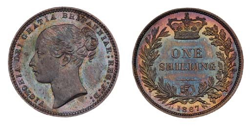 Victoria, proof Shilling, 1867
