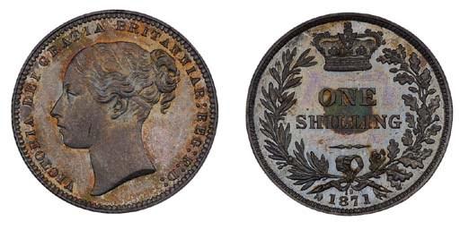 Victoria, proof Shilling, 1871