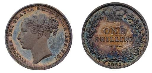 Victoria, proof Shilling, 1887