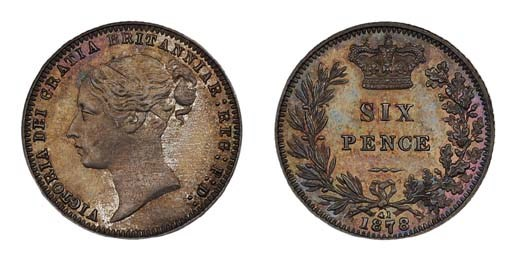 Victoria, proof Sixpence, 1878