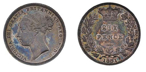 Victoria, proof Sixpence, 1881