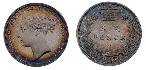 Victoria, proof Sixpence, 1885