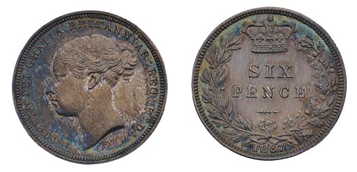 Victoria, proof Sixpence, 1887