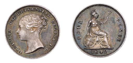Victoria, proof Groat, 1842, y