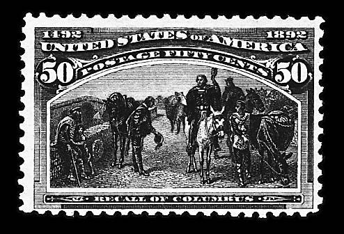 50c Columbian (240), mint, never hinged, fine, Scott retail $1,200.00         photo