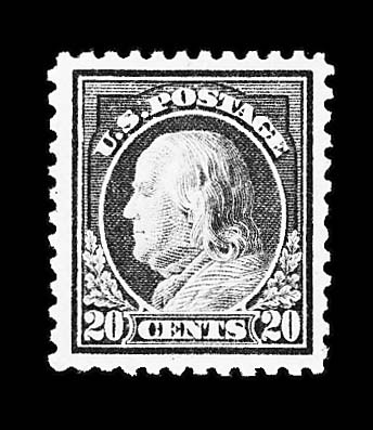 20c-$1.00 1917 Issue (515, 516, 518), mint, never hinged, 20c and 30c extremely well-centered, $1.00 has strong natural offset on reverse (as often on this stamp), very fine-extremely fine, an attractive group, Scott retail $235.00      photo ex