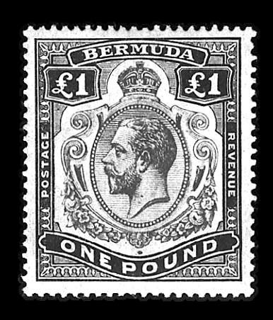 1910, £1 Black & Violet on red