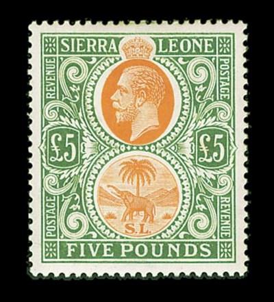 1923, £5 Gray Green & Orange (