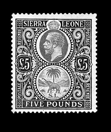 1912, £5 Gray Green & Orange (