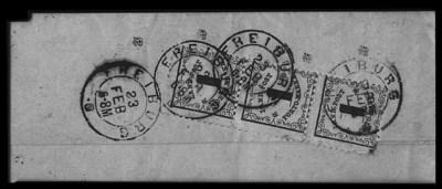 1862, 1kr Black on yellow, Rur