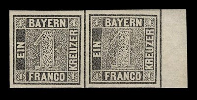 1849, 1kr Black, plate I (1, M