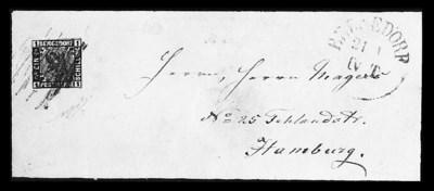 1861, 1s Black (2, Michel 2),
