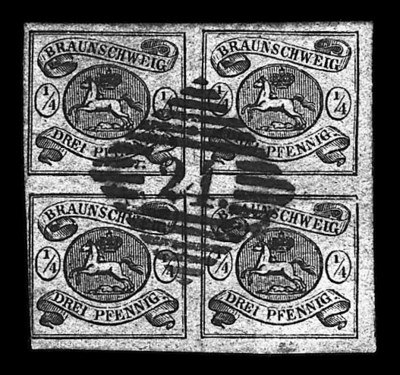 1856, ¼ggr Black on brown (4,