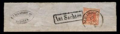 1850, 3pf Brick Red (1, Michel