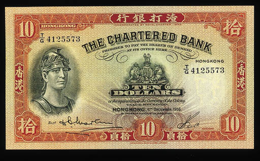 The Chartered Bank, $10, 6 Dec