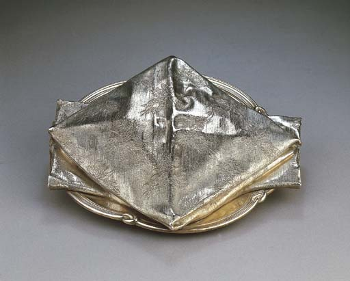 A French silver napkin dish