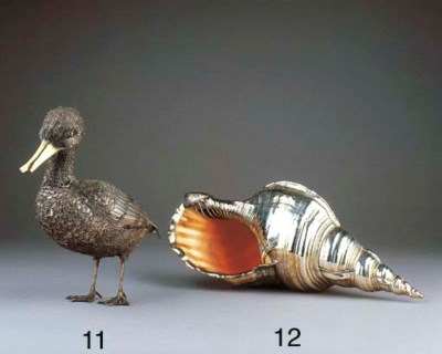 An Italian silver and parcel-g